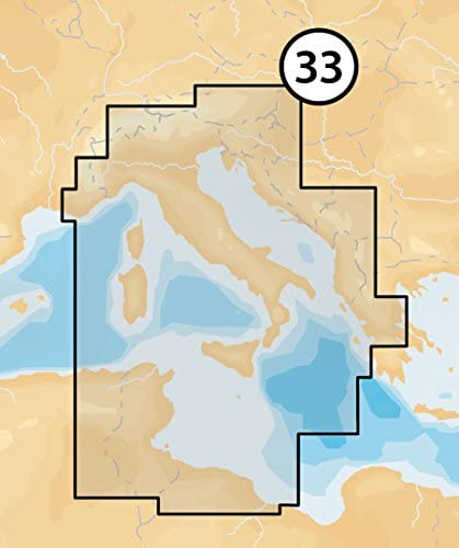 Navionics MicroSD Platinum XL3 33P Mediterráneo Central ...