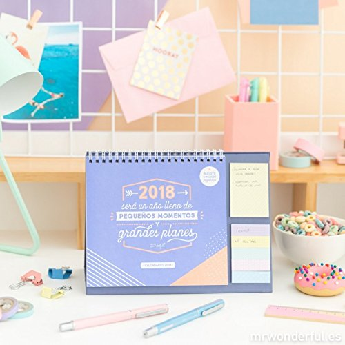 Mr. Wonderful WOA08663ESOHM - Calendario 2018 de sobremesa