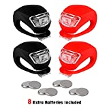 REFUN Bicycle Light - Front and Rear Silicone LED Bike Light Set - High Intensity Multi-Purpose Water Resistant Headlight - Taillight for Cycling Safety