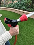 EasyGo Fireman Nozzle with Handle – High Pressure Fire Style Hose Attachment With On/Off Lever and 3 Free Additional Washers
