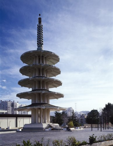 24 x 36 Giclee print of The 100-foot-high five-tiered Peace Pagoda built in 1969 as an entrance to Japantown and the Japan Center indoor mall San Francisco California r51 [between 1980 - Centre San Mall Francisco