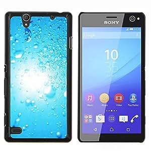 For Sony Xperia C4 Case , Blue Water Drop 2- Diseño Patrón Teléfono Caso Cubierta Case Bumper Duro Protección Case Cover Funda
