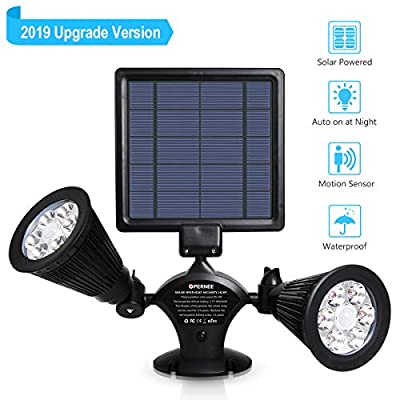 OPERNEE Solar Lights Outdoor, Upgraded Motion Sensor Solar Spotlights 12 LED 600LM Bright 360° Rotatable Waterproof Security Light for Yard Walkway Pathway Outside Wall Garden Landscape Auto Dim