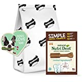 Nylabone Nutri Dent Simple Limited INGREDIENTS Dental Dog Chew Treats, Filet Mignon, 32Count, Medium
