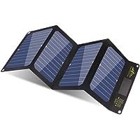 BigBlue 24W Cargador Panel Solar con 3 USB Puertos (5V/4A MAX Total) SunPower Solar Panel Plegable para iPhone, iPad Mini, Galaxy, Huawei, Xiaomi, Android, GoPro Etc