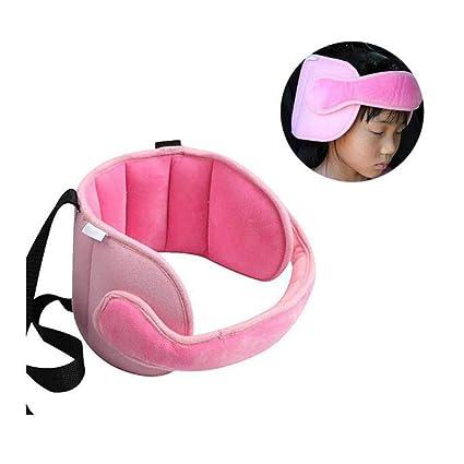 Sujeta cabezas Soporte Cabeza Sujeta de Coche para Niños Arnés Cinturón Ajustable de Seguridad Fijación de