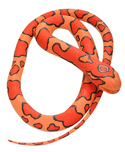 Wild Republic Corn Snake, Rubber Snake Toy, Gifts For Kids, Educational Toys, 72