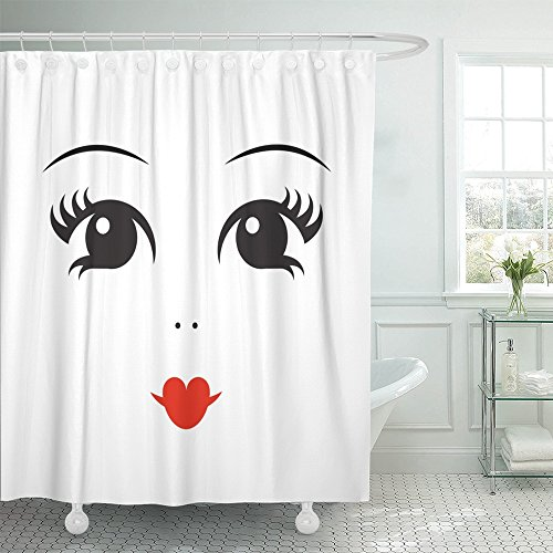 shower curtain polyester cartoon doll