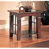 Coaster Abernathy Transitional Cherry End Table with Shelf