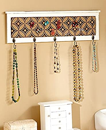 Amazon.com: Multifunctional Wall Decor with Hooks , White: Home ...