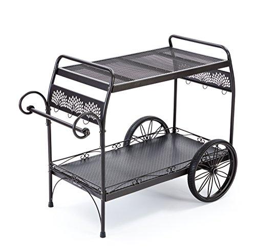 Gorilla Carts GOR-2240DEC Steel Decorative Patio Cart, 200-pound Capacity, Black