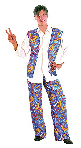 Bristol Novelty AC323 Flower Power Hippy Man Costume, 42-44-Inch ()