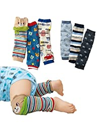 Lucky staryuan ® Prime Deals Set of 6 Baby Leg Warmer Toddler Kneepads