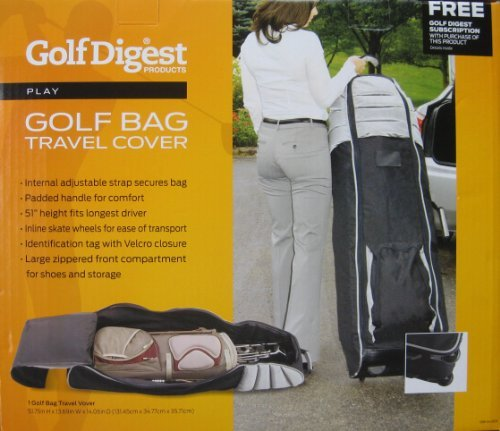 Golf Digest Golf Bag Travel Cover by Golf Digest by Golf Digest