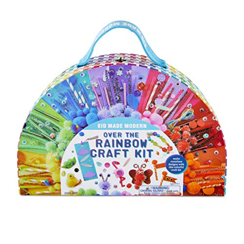 Kid Made Modern Kids Art Supplies Over The Rainbow Craft Kit – Colorful Crafting Creativity, Ages 6 and Up