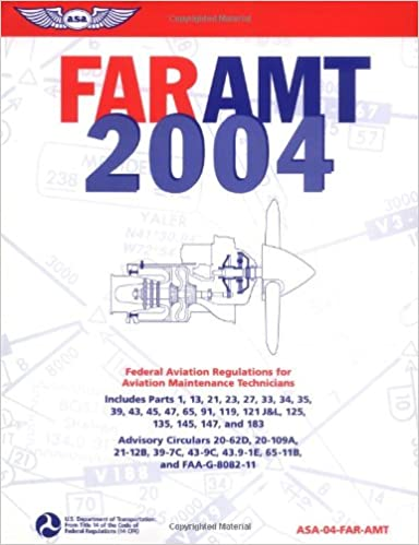 Book FAR/AMT 2004: Federal Aviation Regulations for Aviation Maintenance Technicians (FAR/AMT: Federal Aviation Regulations for Aviation Maintenance Technicians)