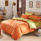 Pure cotton Bedding 4-Piece Set Modern comfort and durability Duvet Cover Bedding Set,OrangeKing