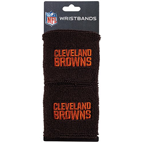Franklin Sports Cleveland Browns Wristbands - 2.5