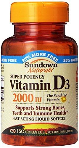 Super Potency Vitamin D3, 2000 IU, 120 Softgels by Rexall Sundown Naturals
