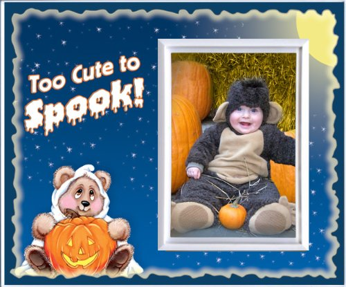 Baby North West Halloween Costume (Too Cute to Spook - Halloween Picture Frame Gift)