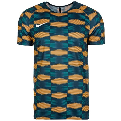 Nike M Nk Dry Sqd Ss Gx Camiseta de Manga Corta, Hombre azul / (space blue / laser orange / space blue / white)