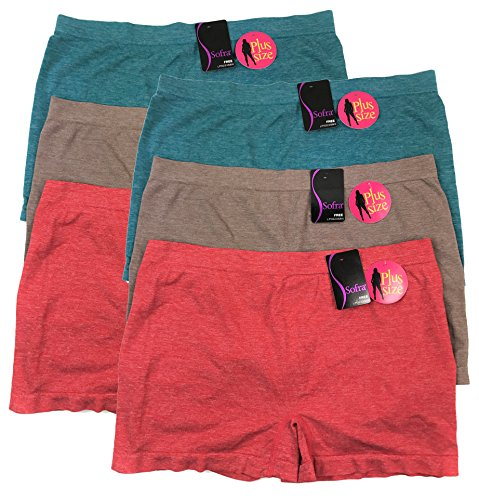 Sofra Seamless Boyshorts Panties Stretchy