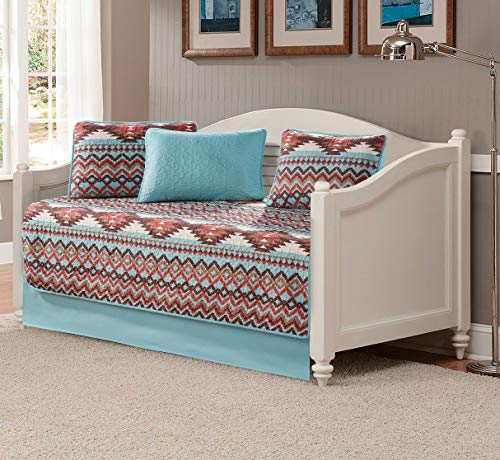 Rugs 4 Less Rustic Southwestern Daybed Quilt Set Native American Tribal Bedspread Utah Turquoise Daybed - Set Daybed Country