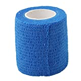 Dolland Cohesive Bandage Elastic Self Adherent Cohesive Wrap Bandages Flexible Stretch Athletic Tape with Strong Elastic for Medical Sport Pet Supply,Blue