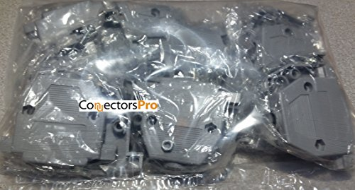 (Pc Accessories - 10-Pack Grey Plastic Hoods For DB-25 Connectors, Short Screws, 25 Pins 10 Pack)