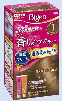 ビゲン 香りのヘアカラー クリーム 1 かなり明るいライトブラウン × 27個セット B072L2VXTJ  27個