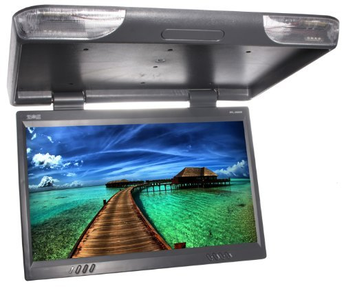 Absolute PFL-2500IRG 25-Inches TFT LCD Overhead Flip Down Monitor with Built-in IR transmitter and Remote Control (Grey) by Absolute