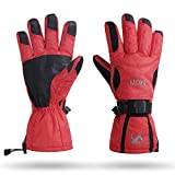 MCTi Waterproof Windproof Men Winter Warm Thermal Snow Skiing Snowboarding Ski Gloves Red M