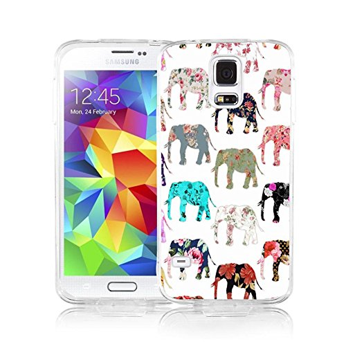 S5 Case Samsung Galaxy S5 Case Viwell Soft Case Rubber Silicone Aztec Elephant (Dollar Cases For Galaxy S5)