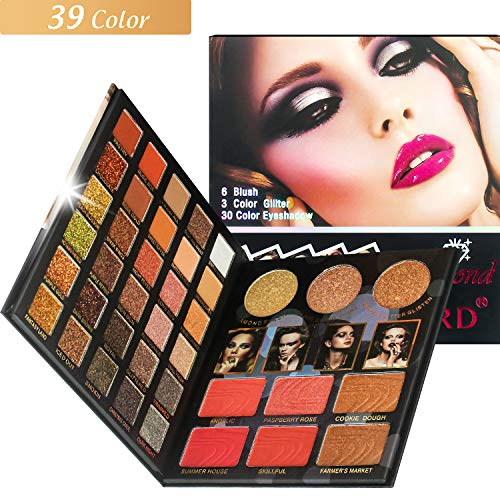 Proteove 39 Colors Eyeshadow Palette - Fashionable Nudes Warm Natural Bronze Neutral Smoky Cosmetic Makeup Eye Shadows, High Pigment, Multi Reflective Shimmer Matte Glitter, Eyeshadow Shield Included (Best Eyeshadow For Hazel Eyes)