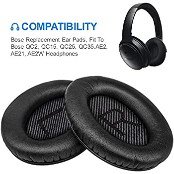   Velour Bose QuietComfort 15 Replacement Ear Pads by Wicked Cushions Over-Ear Headphones Compatible with QC 15 // Quiet Comfort 25 // QC2 // QC35 // Ae2 // Ae2i // Ae2w // SoundTrue//SoundLink