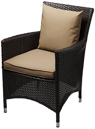 Modway Convene Dining Outdoor Patio Armchair, Espresso/Mocha