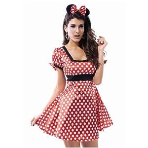 Déguisement Minnie Mouse avec serre-tête Taille XL, Taille 40–42