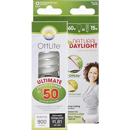 (OttLite 15ED12R 15w Edison HD CFL Swirl Bulb)