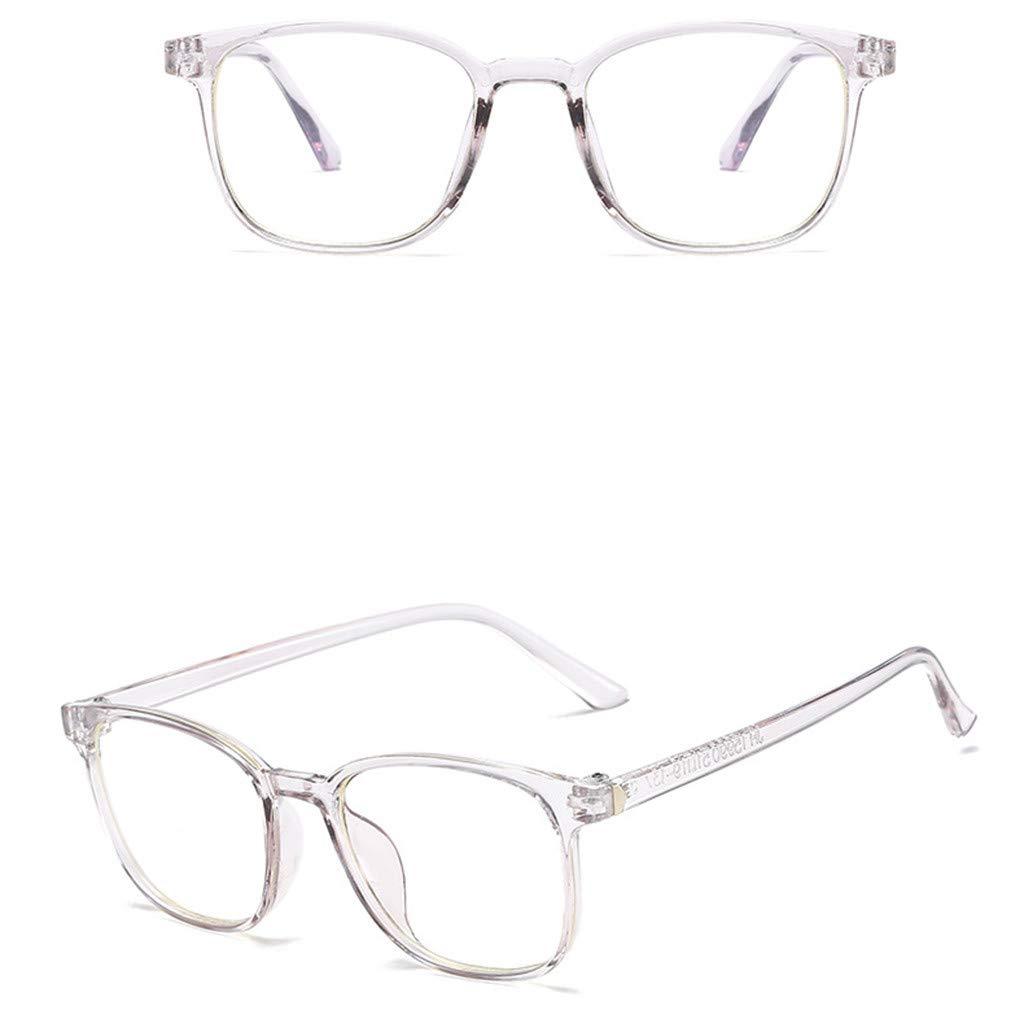 Fiaya Computer Readers Eyeglasses Frames Unisex Stylish Eyewear Frame Optical Clear Lens Glasses (Gray, B) by Fiaya (Image #2)