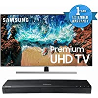 Samsung UN75NU8000 Flat 75 4K UHD 8 Series Smart LED TV (2018) BUNDLE with UBD-M7500/ZA 4K UHD Blu-Ray Player + 1 Year Extended Warranty for TV & Blu-Ray with CPS.