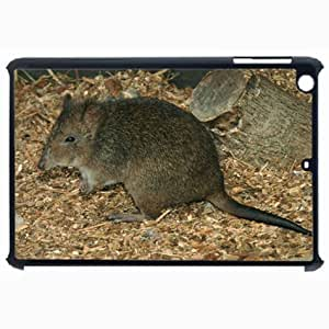 Customized Back Cover Case For iPad Air 5 Hardshell Case, Black Back Cover Design Potoroo Personalized Unique Case For iPad Air 5