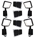 4 Pack LED Dusk to Dawn Outdoor Lighting 8W CREE 28WH Li-Poly Battery 100W Halogen Equiv. for Back Yardence (Black) … Review