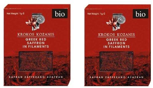 Krokos Kozanis Greek Red Saffron in Filaments 2x1g by Cooperative de Safran