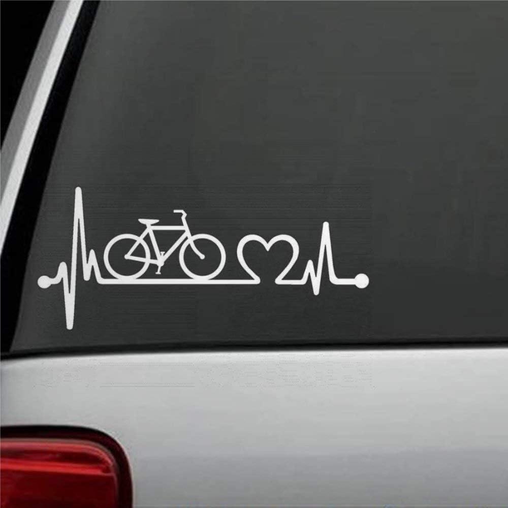DONL9BAUER Baseball Softball Heartbeat Lifeline Decal Sticker Car Window Decal Bumper Sticker for Car Truck Laptop SUV Van Wall