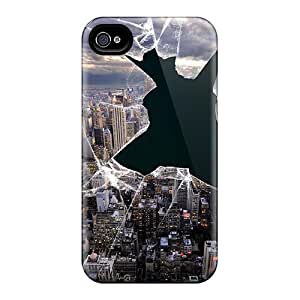 Tpu Case Cover For Iphone 4/4s Strong Protect Case - Broken View Design
