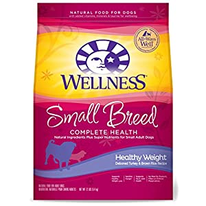 Wellness Complete Health Natural Dry Small Breed Healthy Weight Dog Food, Turkey & Rice, 12-Pound Bag 69