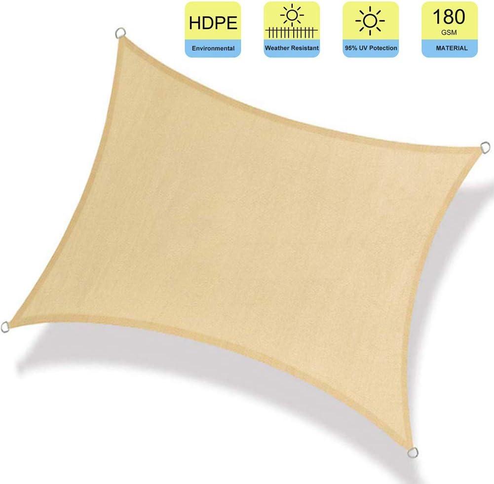 WISKEO Toldo de Vela Rectangular Protección Rayos UV Pergola ...