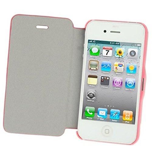 Schutzhülle Quer Case für Handy Apple iPhone 4 & 4S rosa