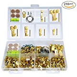 Tools & Hardware : 216-in-1 Photo Frame Hooks, Premium Picture Hanging Kit (IncludIing Hangers, Nails, D-Ring, Wire, Level, Felt Pads and More), Heavy Duty Picture Hanger Assortment Tool for Wall Mounting
