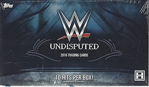 Hobby Trading Card (2016 Topps WWE Undisputed Trading Cards Sealed Hobby Box - 10 packs / 5)